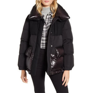 WOOLRICH Black Aliquippa Water Repellent Down Coat